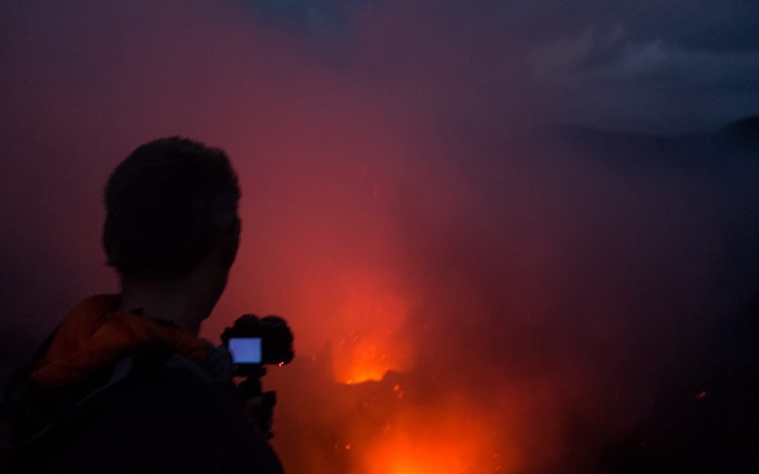Exploring the volcano on Tanna in Vanuatu