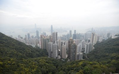 Meeting friends in Hong Kong